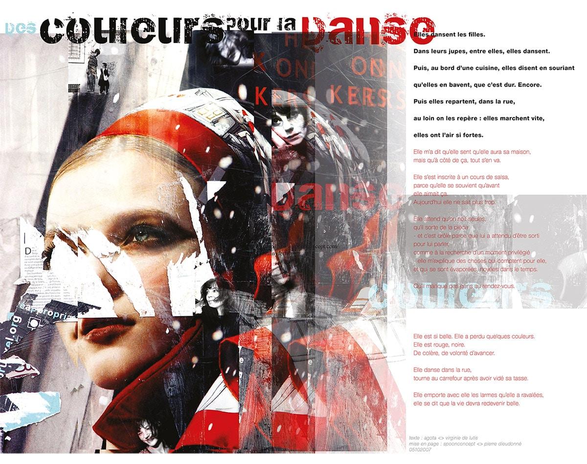 Le layout du texte Des Couleurs Pour La Danse Layout