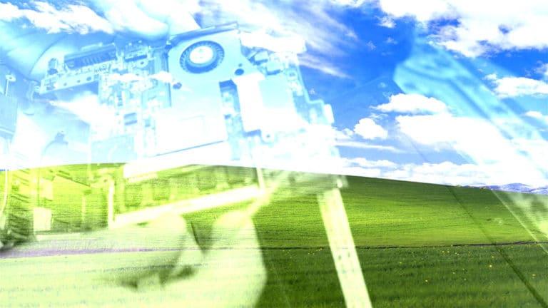 fond ecran Windows Xp avec Asus Eee PC